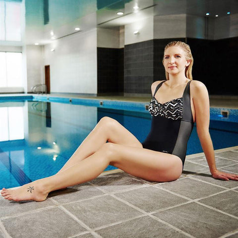Slazenger Black V Neck Twist Swimsuit