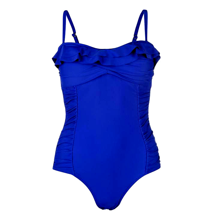 SoulCal Ruffle Tummy Control Swimsuit (Size 8 (XS) & 12 (M) Only)