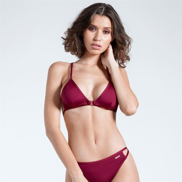 Firetrap Burgundy Cross Back Bikini Set (Non Padded)