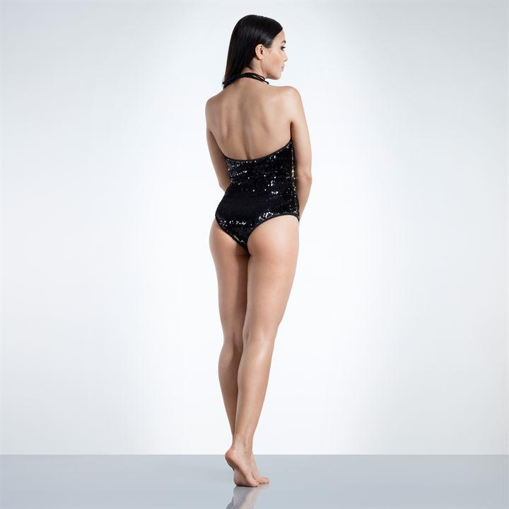 Plunging Dual Sequin Swimsuit (Non Padded)