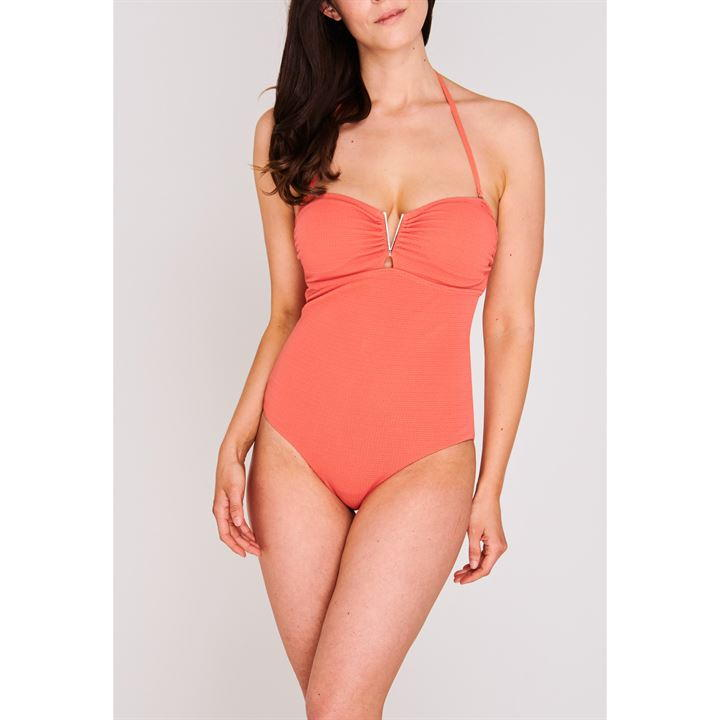 SoulCal V Neck Swimsuit Ladies