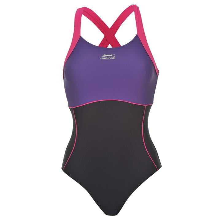 Slazenger X Back Swimsuit Navy
