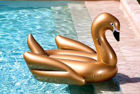 Giant Inflatable Swan Float - Gold