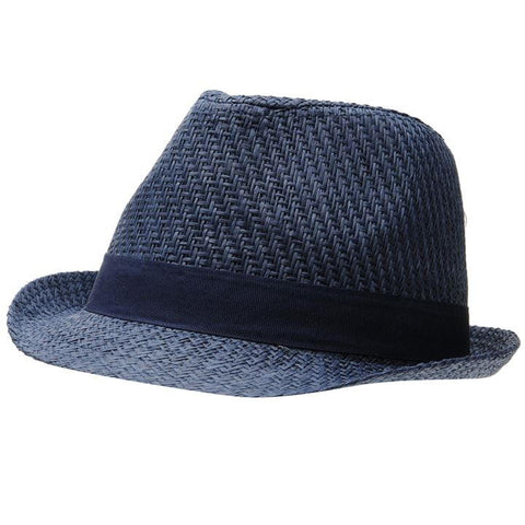 Crafted Navy Trilby Hat for Boys