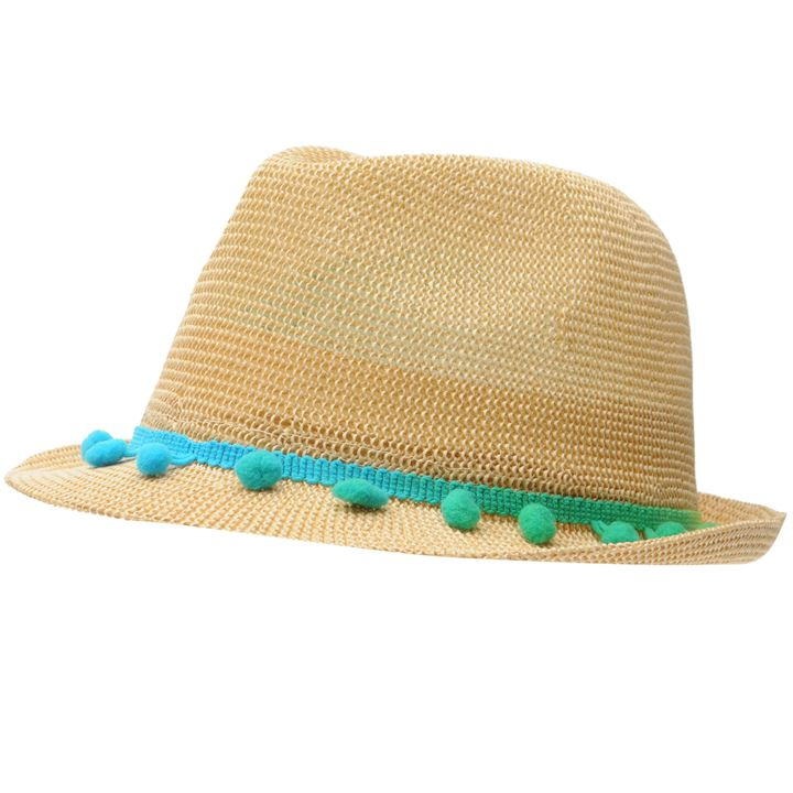 Crafted Multi Pom Trilby Hat  - Multi