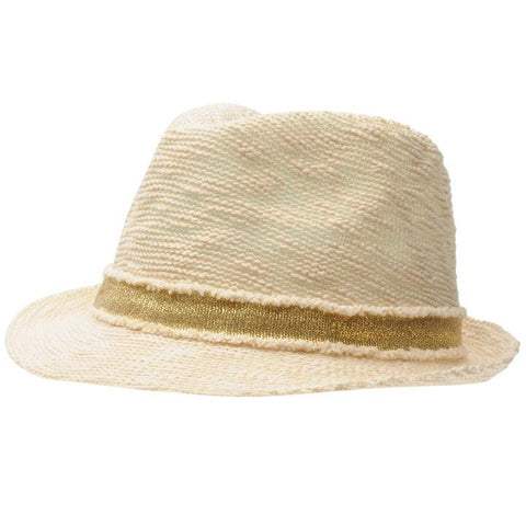 Crafted Gold Trilby Hat for Girls