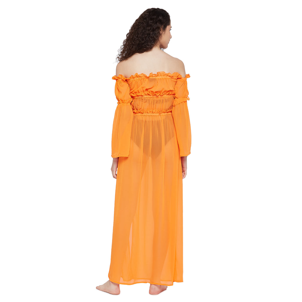 Sheer Off Shoulder Beach Maxi