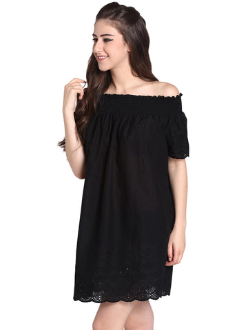 Slate Off-Shoulder Dress