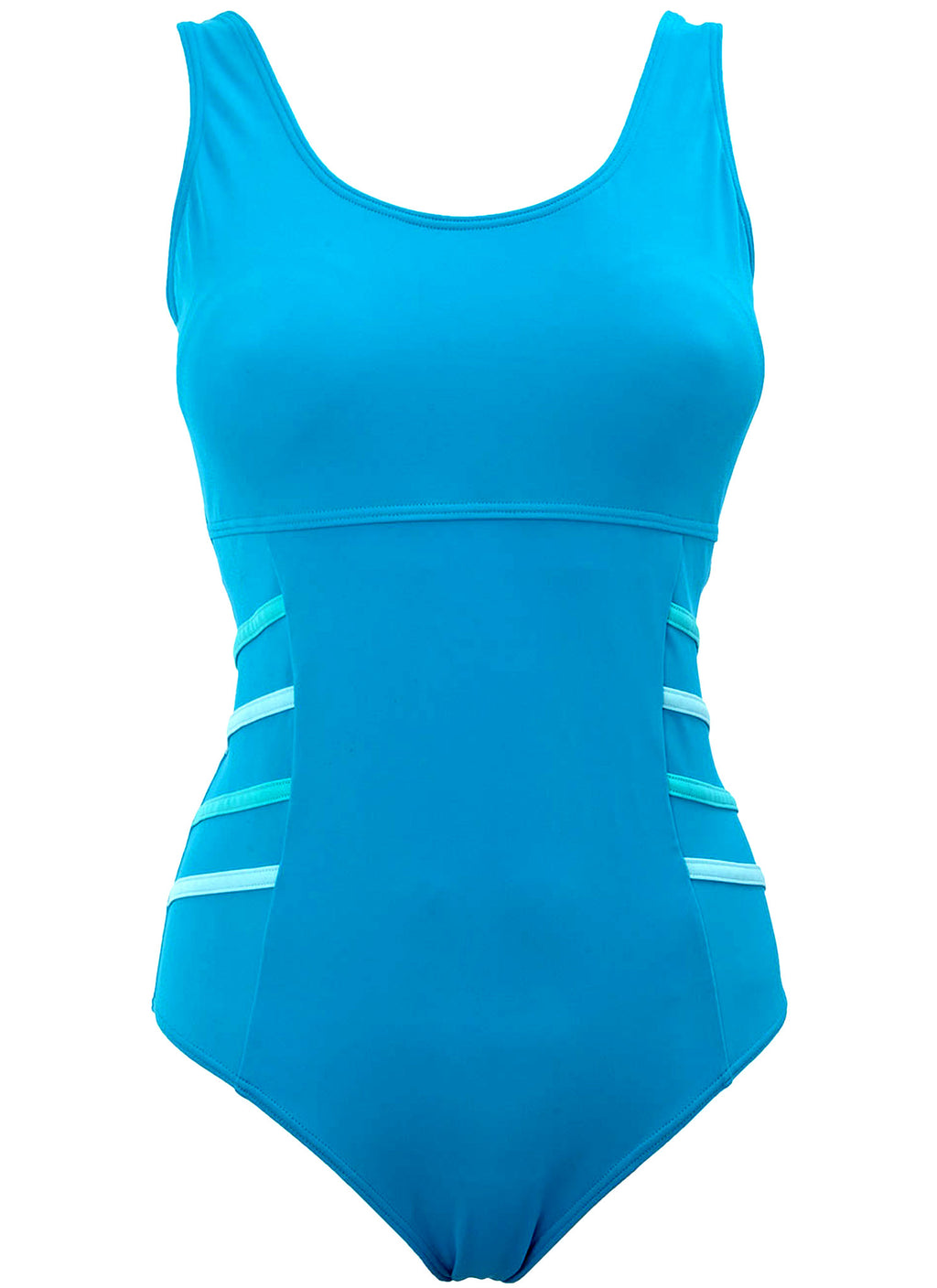 Turquoise Side Tape Swimsuit (Size UK8 Only)