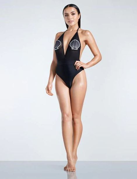 Shell Badge Swimsuit (Non-Padded)