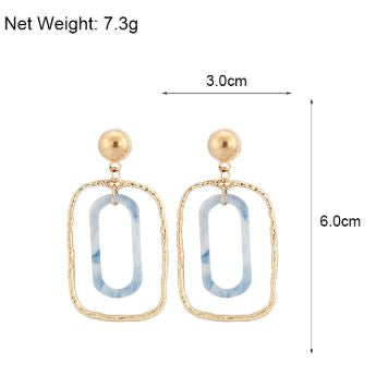 Multi-Layer Resin Drop Earrings