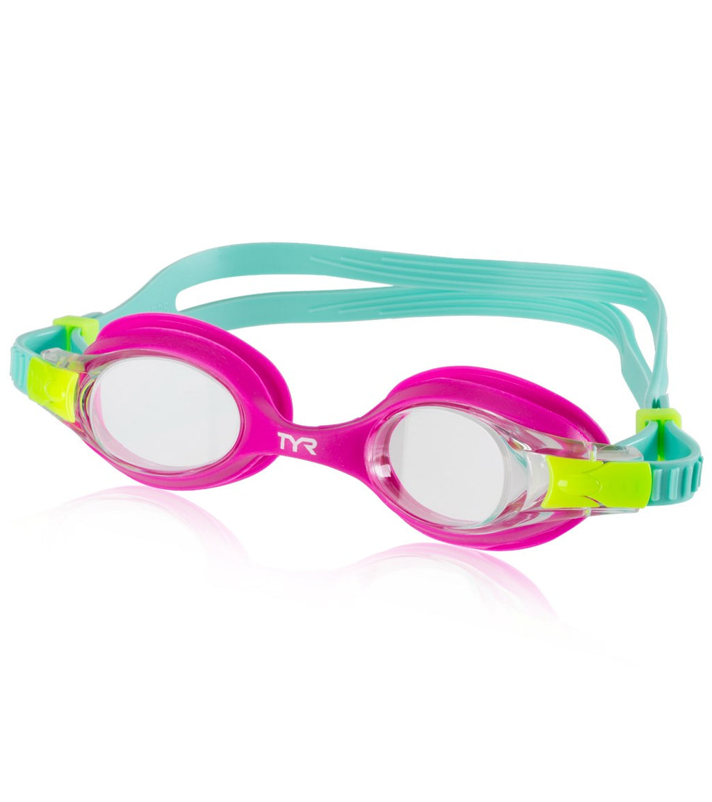 TYR PINK Swimple Swim Goggles
