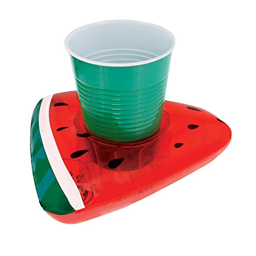 Inflatable Watermelon Slice Drink Holder (Pack of 3)