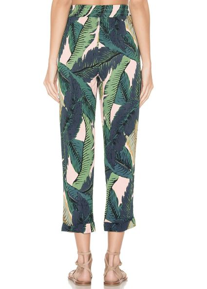 Bohemian Crop Top Calf-Length Pants Set