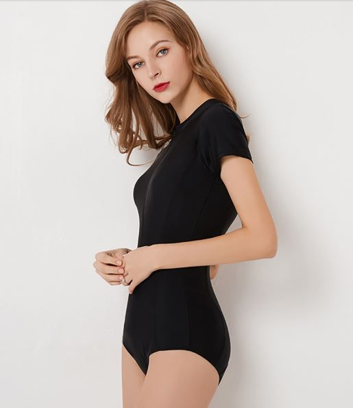Short Sleeve Zipper Swimsuit (S Only)