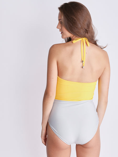 Colorblock Cut-Out Swimsuit