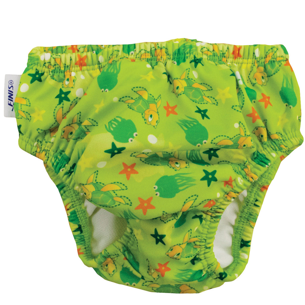 Finis Swim Diaper Turtle Green