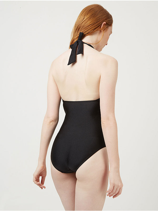 Plunge Metallic Detail Swimsuit (UK12 Only)