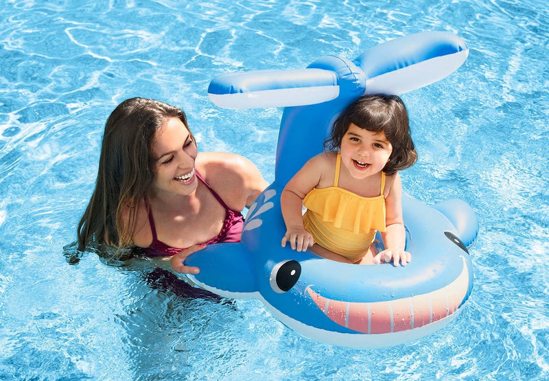 The Beach Company - Shop Pool Floats and Loungers Online - Swimming pool toys - Swimming games - The Beach Company India Online - Shop Swim Floats online - Whale Shaded Baby Float Online - Kids float online
