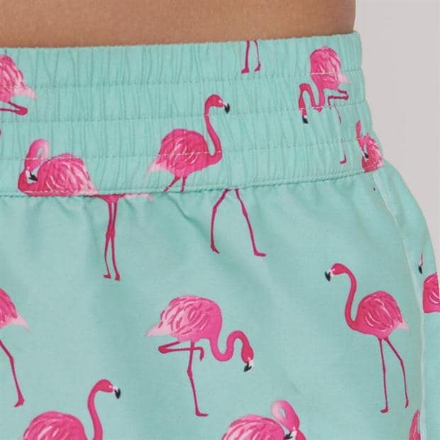 Flamingo Printed Swim Shorts