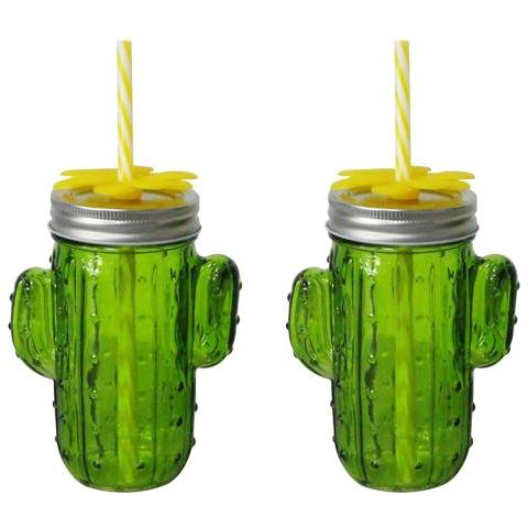 Cactus Mason Jars (Set Of 2)