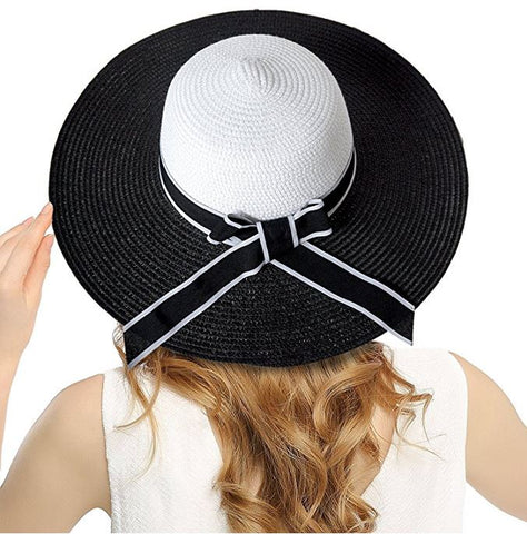 Color Block Bow-Knot Summer Hat