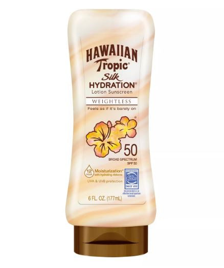 Hawaiian Tropic Silk Hydration Sunscreen Lotion - SPF 50 - 175ml