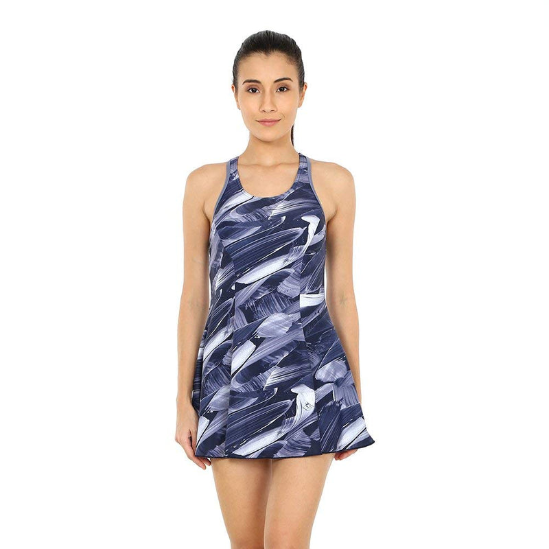 Speedo AOP Racer-back Swimdress (with Boyleg)