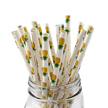 Pineapple Paper Straws (Pack of 25)
