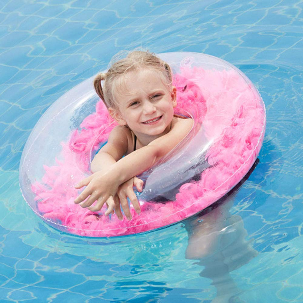 Baby Pink Feather Pool Float 60 cm