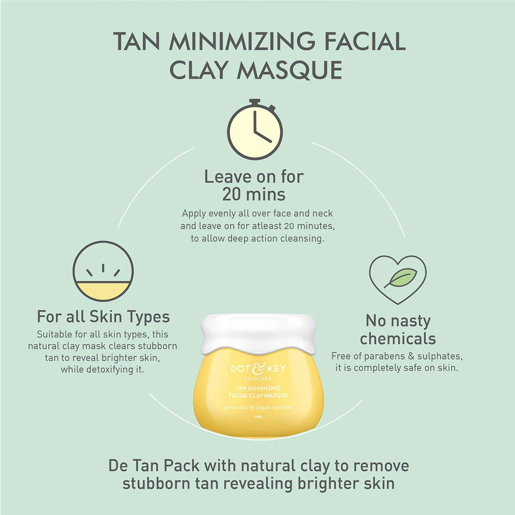 Tan Minimizing Facial Clay Masque 50 ml