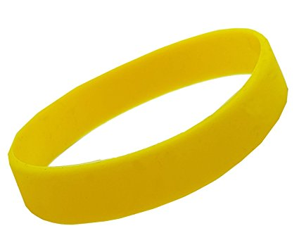 Yellow Silicone Wristband (Pack of 100pcs)