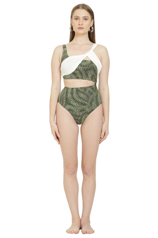 Echo Cut Out Reversible Swimsuit