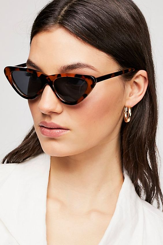 Tortoise shell Cat Eye Retro Sunglasses