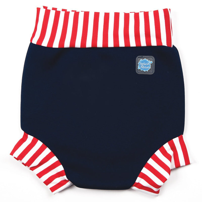 Happy Nappy Navy/Red Stripe