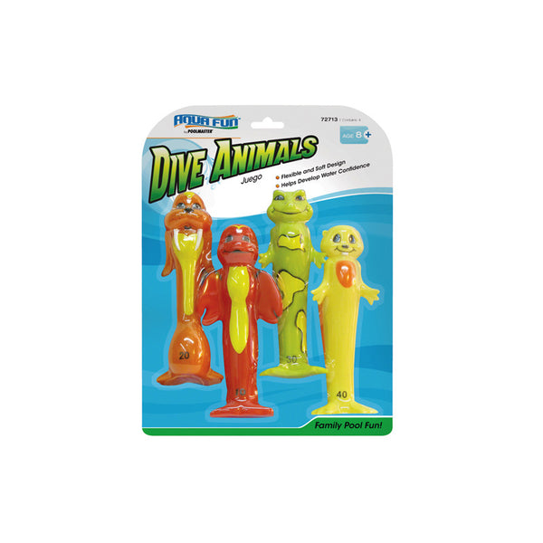 Funny Dive Animals (Set of 4)