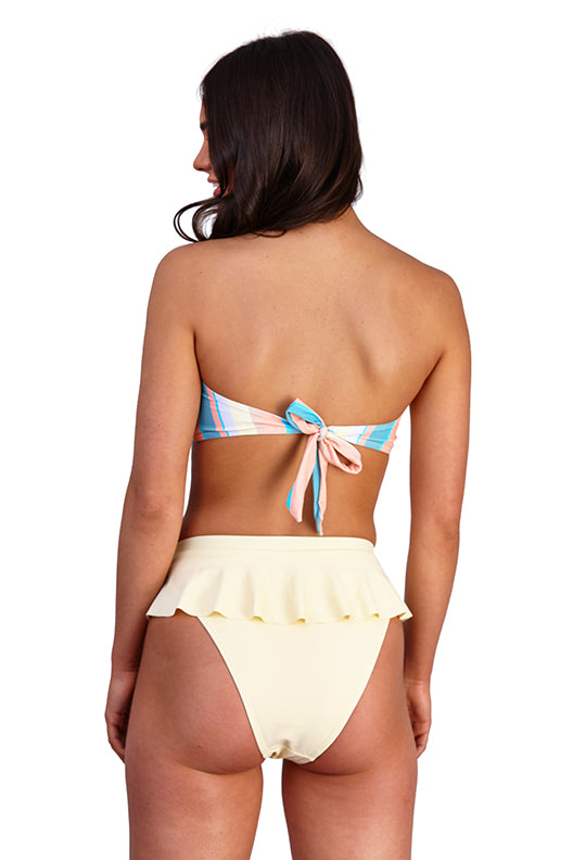 South Beach Pastel Stripe Bandeau Bikini Set