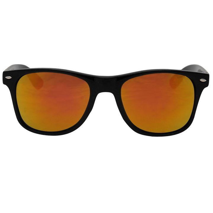 Orange Tint Iridescent Wayfarer Sunglasses