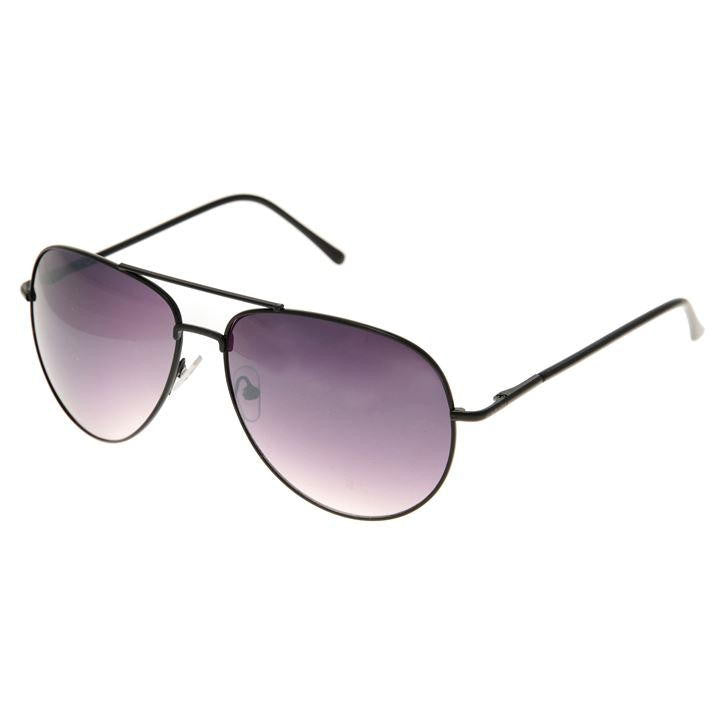 Classic Black Aviator Sunglasses
