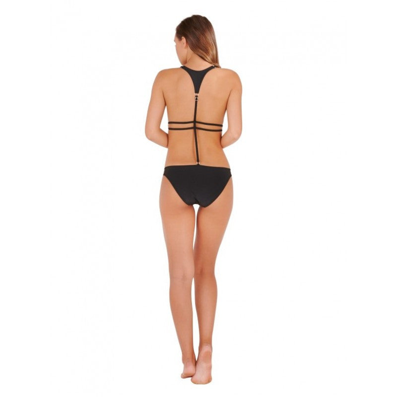 Black Moulded Triangle Cut Away Swimsuit