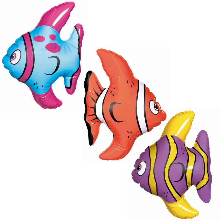 Inflatable Mini Fish (3pc pack)
