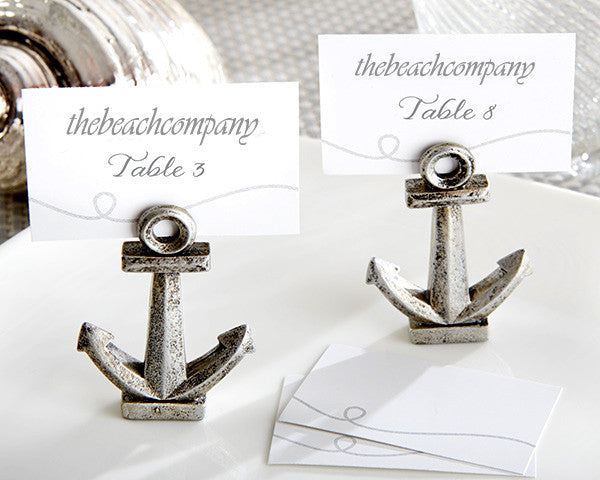 Nautical Anchor Place Card Holders (Pack Of 6)