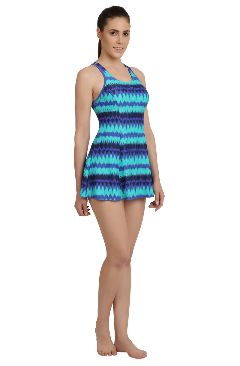 Speedo AOP Racerback Swimdress