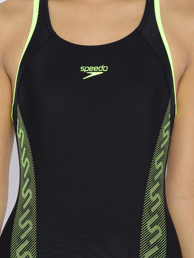 Speedo Monogram Racerback Swimsuit