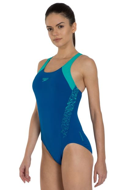 Speedo Boom Splice Racerback Swimsuit