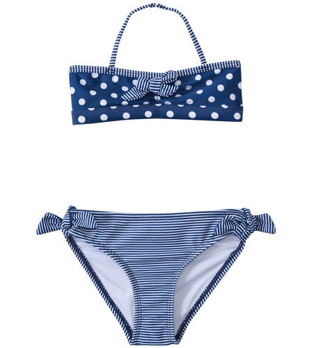 Sail Polka Dot & Stripe Bikini Set (Blue Depths)