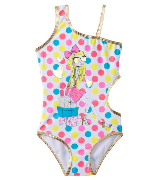 Jantzen Girls' California Cool Beverly Hills One Piece (Size 4yrs Only)