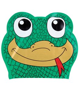 Sporti Cartoon Gecko Latex Swim Cap