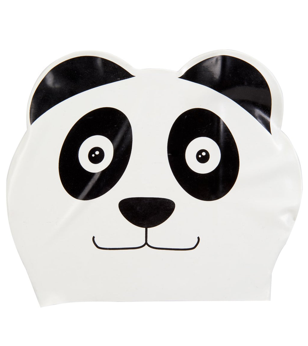 Sporti Cartoon Panda Latex Swim Cap Jr.