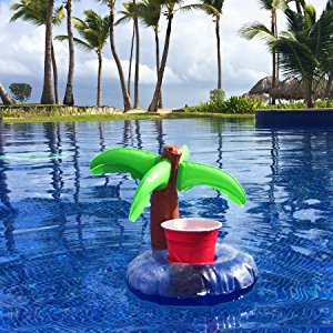 Inflatable Palm Tree Drink Holder (Pack of 2)